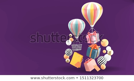 balloons & gift Stock photo © indie