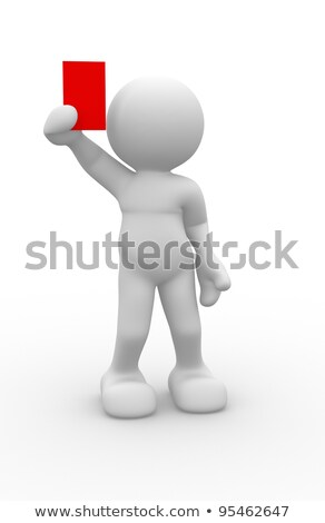 3D People Holding Football in Hand stock photo © Quka