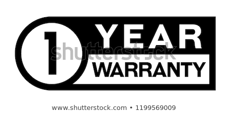 Ano garantia selos vermelho vetor Foto stock © THP
