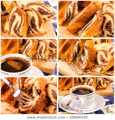 Kugelhopf and turkish coffee Stock photo © badmanproduction