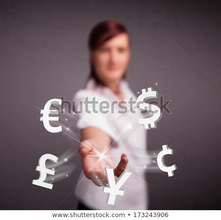 投資 · かなり · ビジネス女性 · 通貨 · シンボル · デザイン - ストックフォト © hasloo