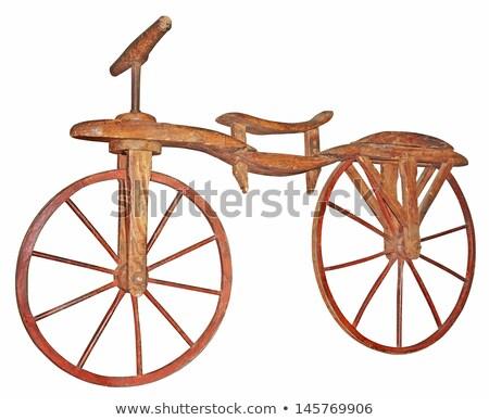 Old wooden bike Stock photo © smuki