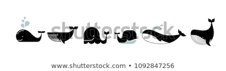 икона кит фонтан иллюстрация Сток-фото © zzve