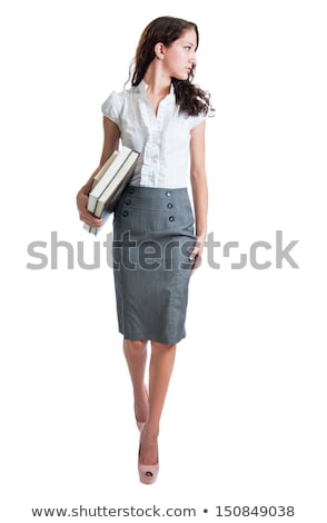 Beautiful bussinesswoman looking over her shoulder Stock photo © rcarner