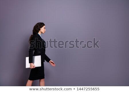 Seriamente imprenditrice giacca bella spalla Foto d'archivio © chesterf