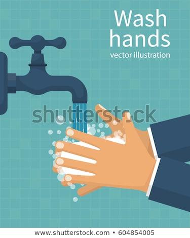 手 洗濯 清浄水 タップ 医療 ストックフォト © Hermione
