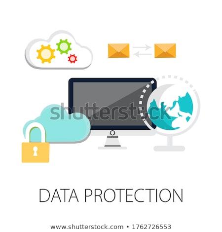 データ保護 · 情報技術 · 言葉 · 緑 · 色 · デジタル - ストックフォト © tashatuvango