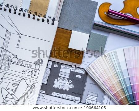 Foto stock: Aleta · de · cores · para · designs · de · interiores