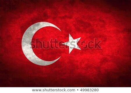 Türkei · Flagge · Feuer · Computergrafik · Sterne · Malerei - stock foto © stevanovicigor