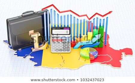 Romanian currency in a briefcase Stock photo © lightkeeper