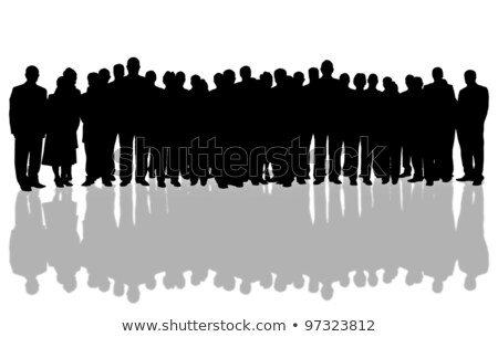 Business people silhouettes, unique concept Stock photo © stockyimages
