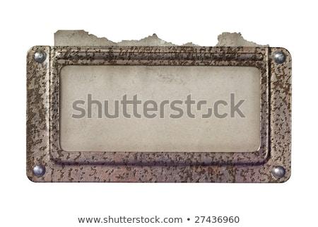 Szabad króm szegecs gombok kép kék Stock fotó © cteconsulting
