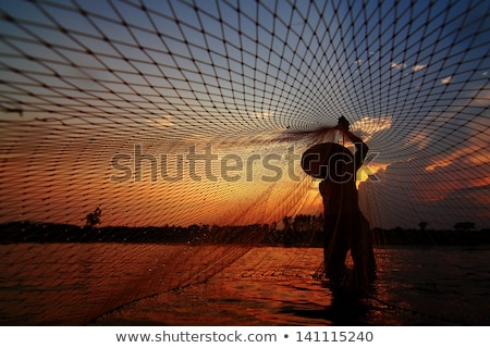 halászháló · tevékenység · kép · észak · tenger · víz - stock fotó © xuanhuongho