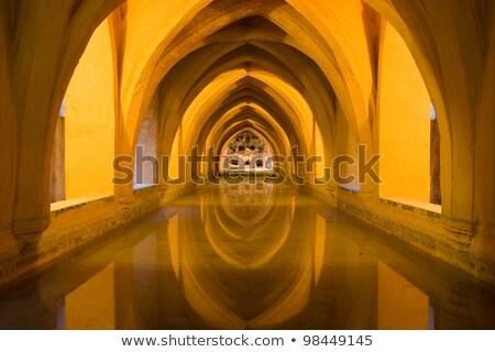 Baths Banos of Dona Maria de Padilla Alcazar Royal Palace Sevill Stock photo © billperry