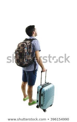 viajar · caso · branco · aeroporto · avião · mala - foto stock © elnur