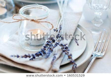結婚式 · 花 · セット · 高級料理 · オレンジ · 表 - ストックフォト © nuiiko