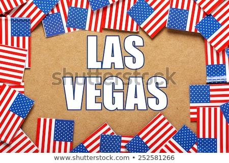 Las · Vegas · cidade · bandeira · Nevada · EUA · viajar - foto stock © bosphorus
