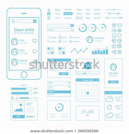 Style diagramme ui icônes affaires Photo stock © DavidArts
