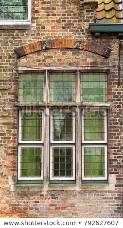 close up traditional brickwork architecture Bruges, Belgium  Stock photo © jenbray