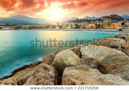 Hotelek tengerpartok Franciaország kilátás tengerpart nyilvános Stock fotó © rglinsky77