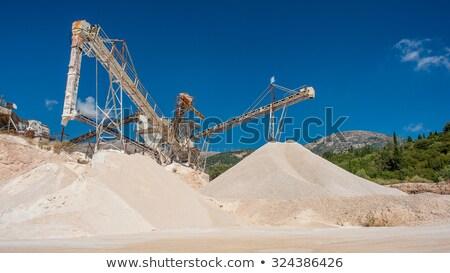 Mining operation. Sand Stock photo © dashapetrenko