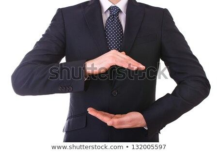 businessman cupped hands Stock photo © dgilder
