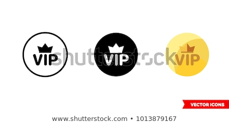 premium member badge with royal crown and three golden stars stock photo © liliwhite