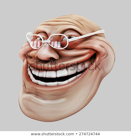 Trollface. Internet troll 3d illustration stock photo © motttive