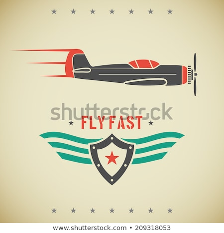 text on an old war airplane stock photo © witthaya