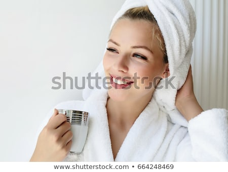dreaming young woman after bath stock photo © nejron