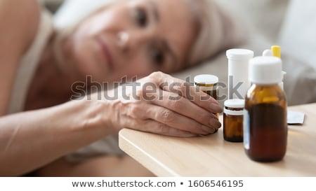 成熟した女性 頭痛 女性 黒 ストレス ストックフォト © bmonteny