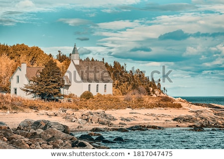 Church in a village, Quebec, Canada Stock photo © bmonteny