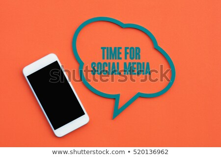 Social Media - Grunge Word Cloud Concept. Stock photo © tashatuvango