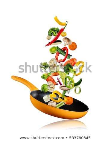 Konyha gasztronómiai étel asztal tyúk krém Stock fotó © M-studio