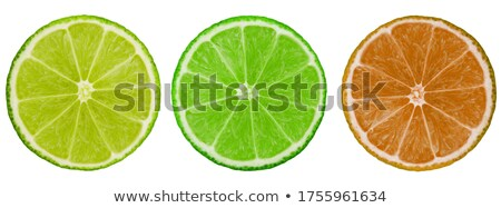 vers · kalk · vruchten · gesneden · half · tonen - stockfoto © sarahdoow