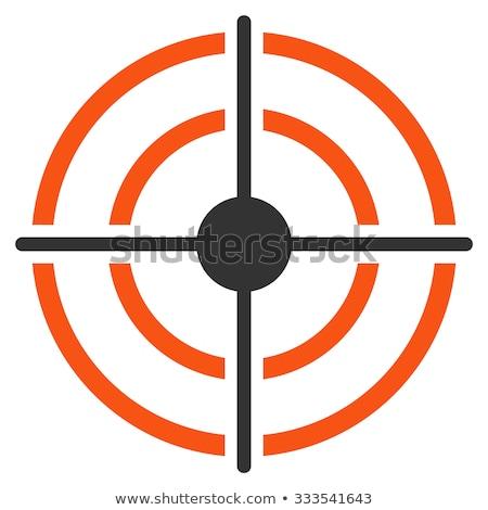 Achieving goal icon orange gray colors Stock photo © aliaksandra