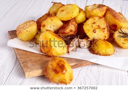 pörkölt · krumpli · család · konyha · forró · eszik - stock fotó © hofmeester