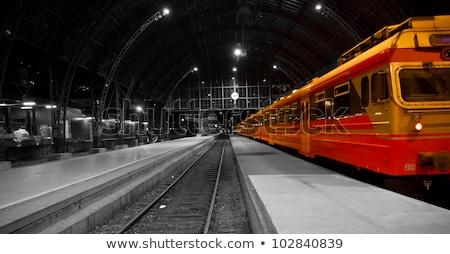 Quadro locomotiva céu verão campo fumar Foto stock © majdansky
