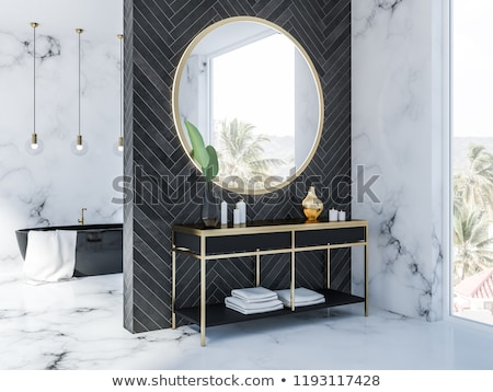 Wnętrza widoku piękna luksusowe łazienka projektu Zdjęcia stock © HighwayStarz