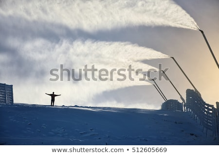 artificial · pista · de · esquí · imagen · vacío · nieve · francés - foto stock © smuki