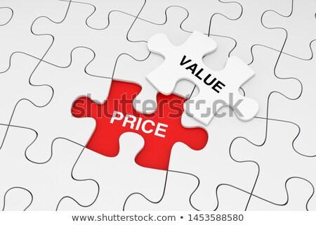 Najlepszy wartość czerwony puzzle biały usługi Zdjęcia stock © tashatuvango