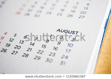 Août calendrier page papier spirale Photo stock © stevanovicigor