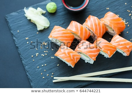 Philadelphia roll with salmon and cream cheese Stock photo © dariazu