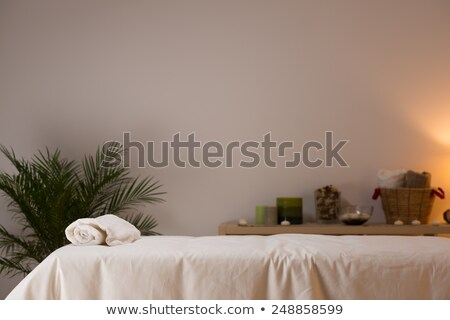 spa still life at beauty salon interior with aromatic candles an stock photo © hasloo