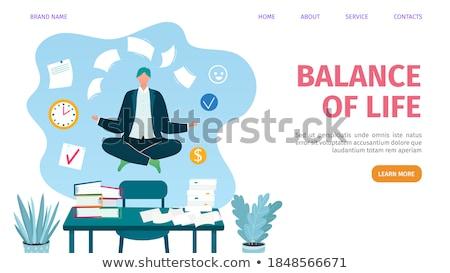 üzletember · meditáció · ül · padló · üzlet · kéz - stock fotó © anna_leni