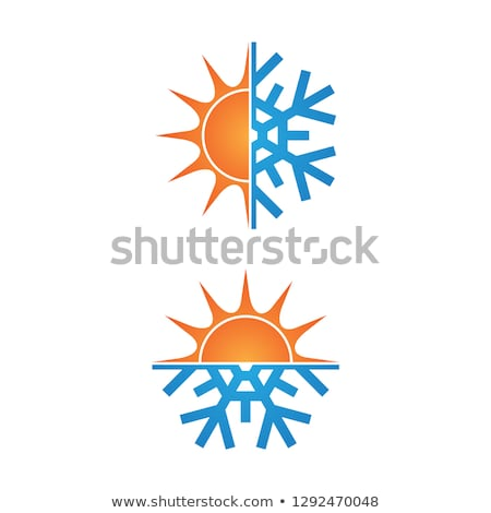 Stock photo: Warm winter background & snowflakes. EPS 8
