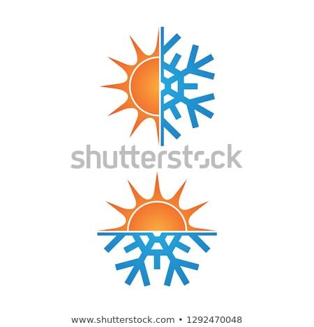 Photo stock: Locons · de · neige · fond · hiver · chaud · Eps · 8