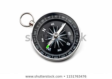 Kompas zachód stylizowany kartografia podróży przygoda Zdjęcia stock © tracer