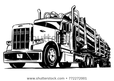 logging truck with cut logs on road Stock photo © goce