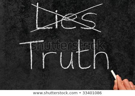 Verdade mentir escrito lousa escrita seta Foto stock © Zerbor